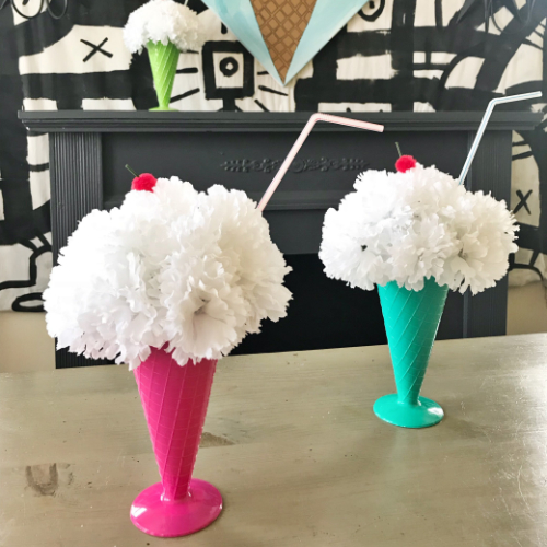 Ice Cream Float Arrangements