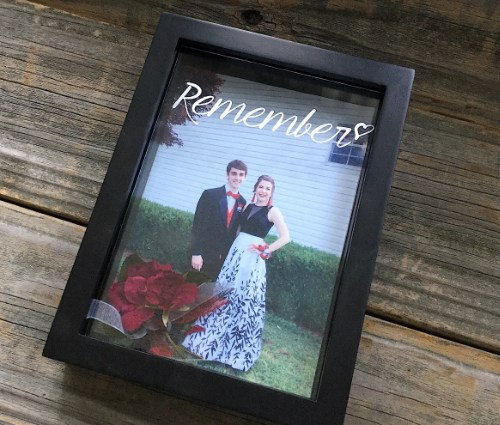 Etched Shadowbox Frame with Dried Flowers