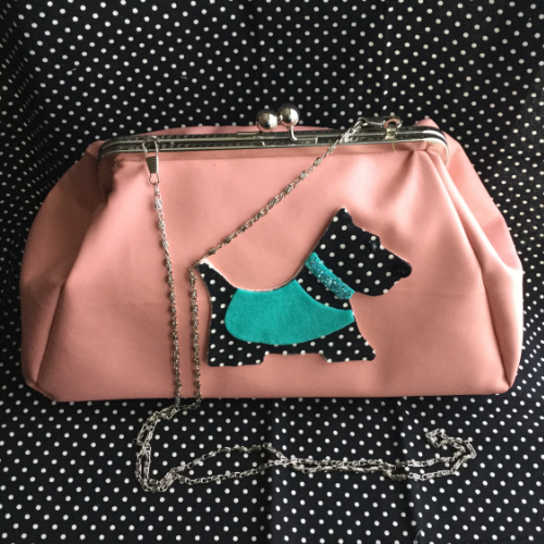 Scott Dog Pink Faux Leather Purse