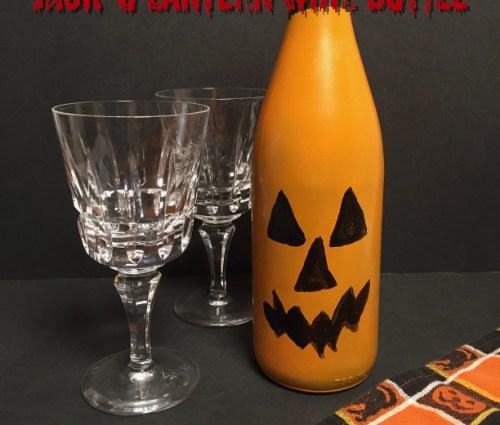 Jack O' Lantern Wine Bottle