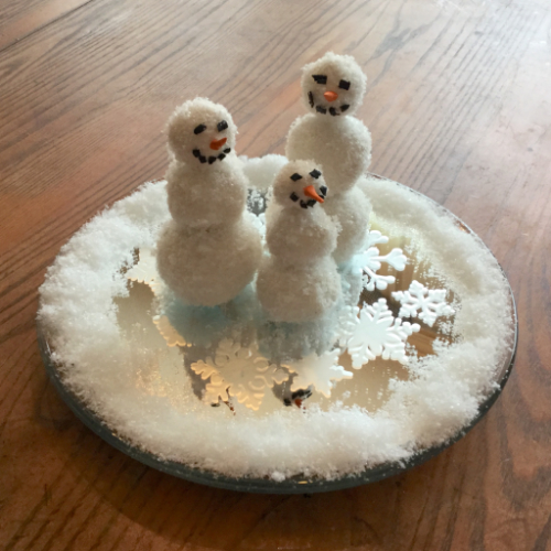 Winter Wonderland Snowmen Centerpiece