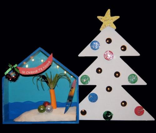 Tahitian Christmas Shadow Box