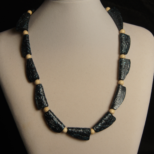 Squished Bead Necklace
