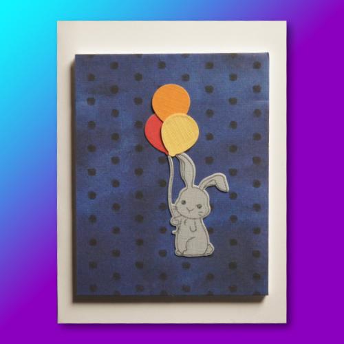 Bunny & Balloons Birthday Card