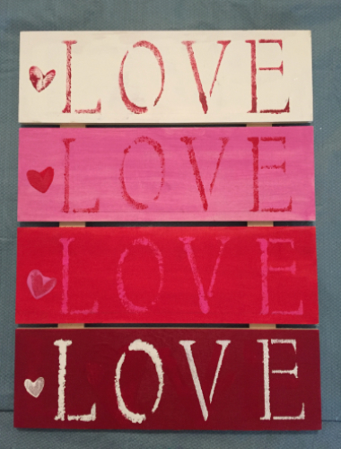 Love Pallet Plaque How 5
