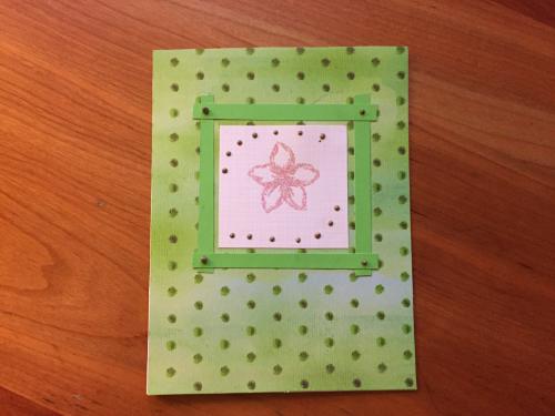 Embossed Flower Greeting Card