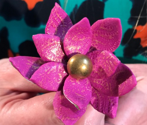 Recycled Coffee Cup Flower Pin