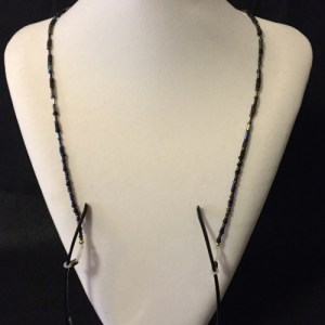 Seed and Tube Bead Glasses Necklace