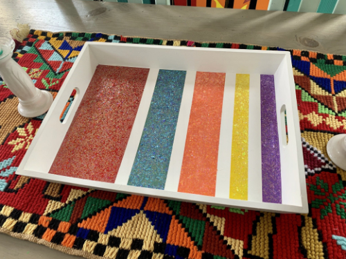 Glittered Serving Tray