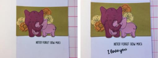 Elephant Love Card How 11-12