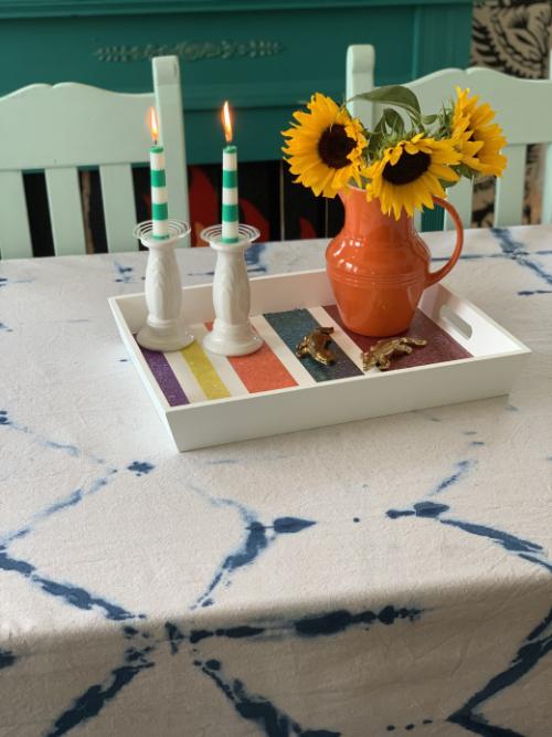 Fabric Creations Shibori Tablecloth
