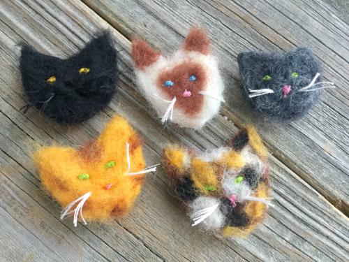 Needle Felted Cat Magnets