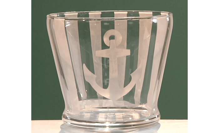 Nautical-Themed Baby Shower Vase