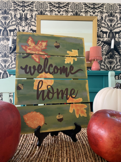 Fall Welcome Home Sign
