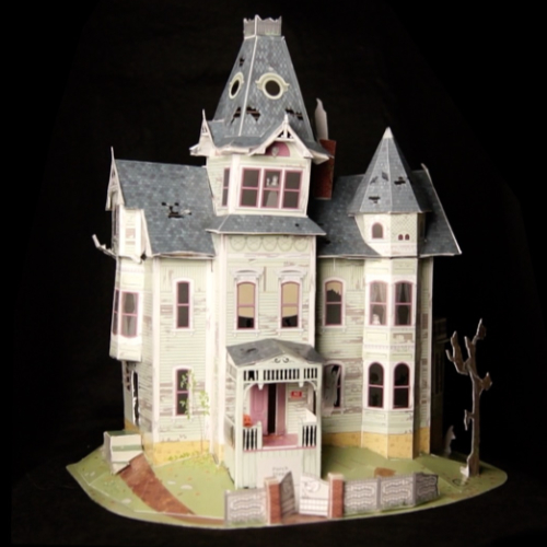 Cut and Assemble Haunted House – The Finished Model