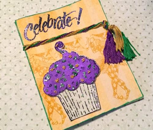 Celebrate! Mardi Gras Themed Card