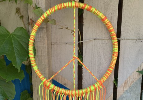 Neon Peace Wreath