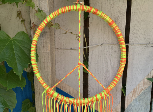 Neon Peace Wreath