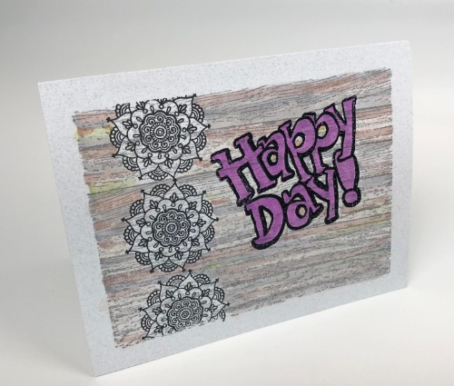 Wooden Boards Signage Card