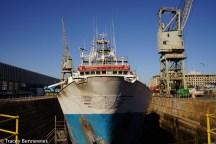 It's still an active port where tanker ships get serviced