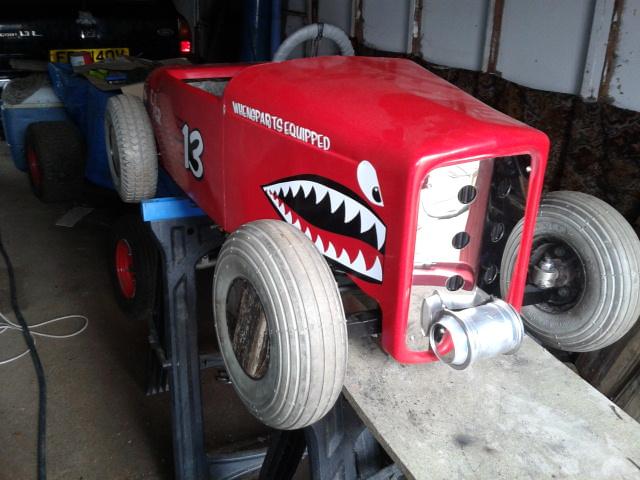 32' Salt Flats Racer Tot Rod: with tiny 'moon' tank (ask us how we made it!!)