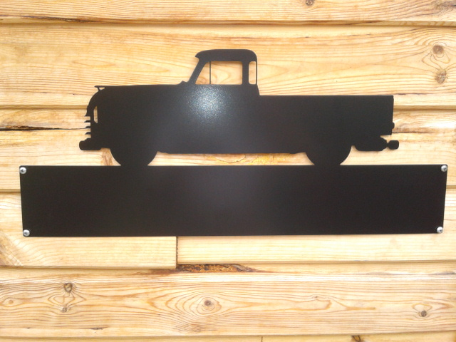 Silhouette Sign: Chevy Pickup