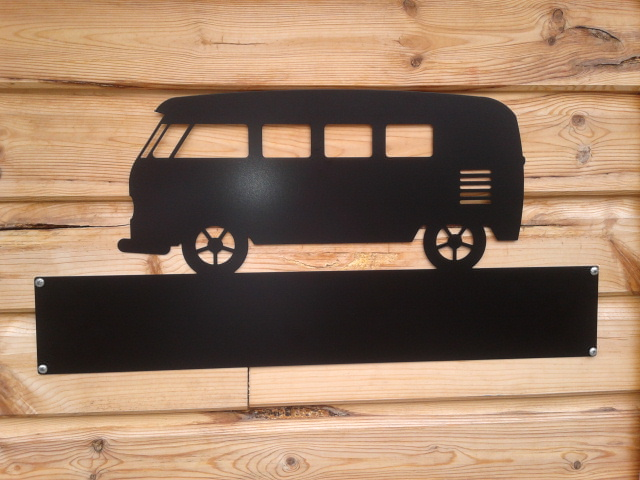 Silhouette Sign: VW Camper