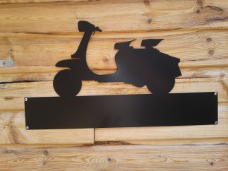 Silhouette Sign: Lambretta Scooter