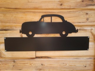 Silhouette Sign: Morris (Moggy) Minor