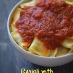 Ravioli with Homemade Tomato Sauce