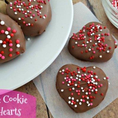 No Bake Chocolate Cookie Dough Hearts