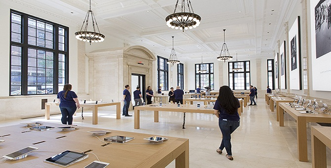 Apple Store Embracing The Old