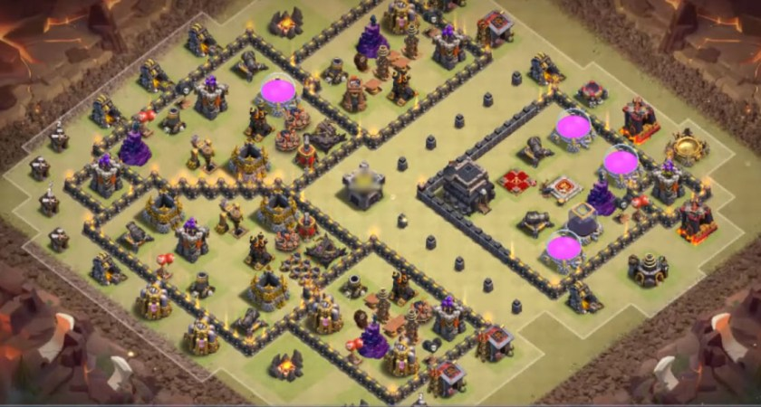How to win Clash of Clans while playing from TH9 War Base?