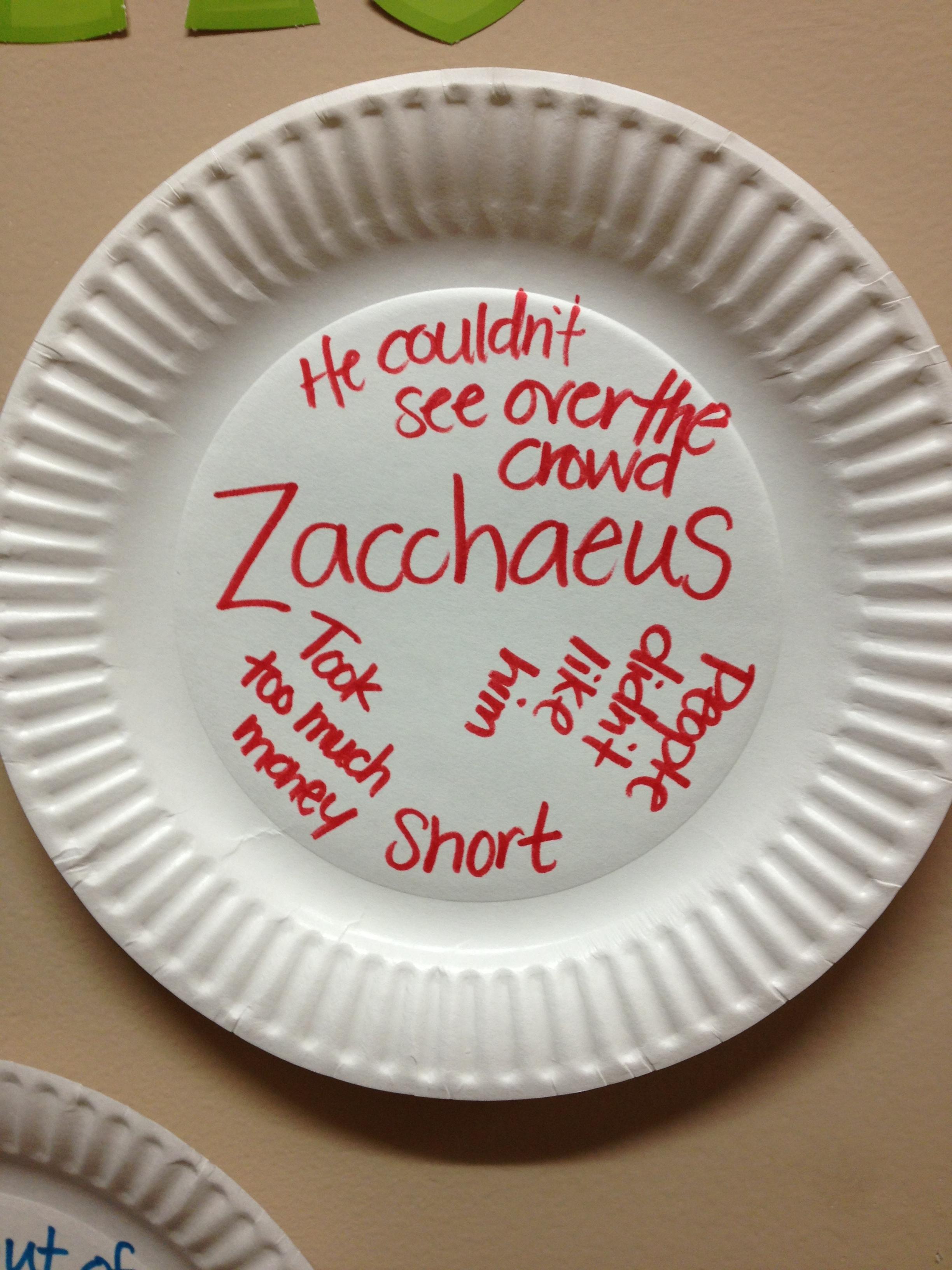 Zacchaeus Lesson For Kids