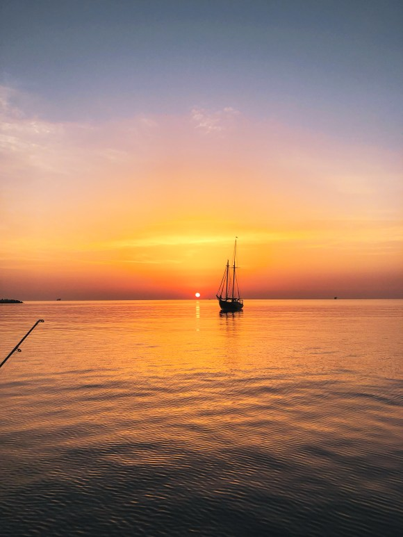 Sailboat in the sunrise