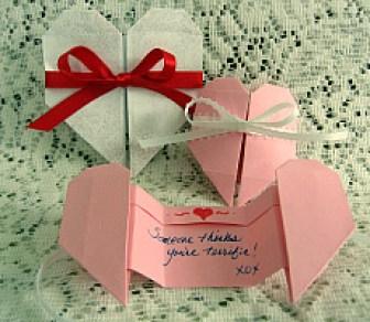 origami valentine notes