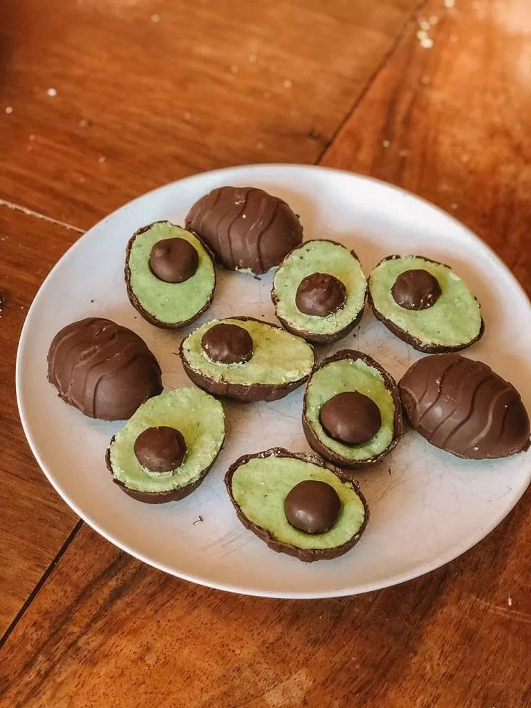 Chocolate Avocado Eggs