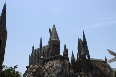 Hogwarts. I teared up a little when I saw the beautiful castle replica.
