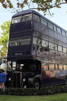 The Knight Bus! I was beyond excited to see the beautiful triple decker!