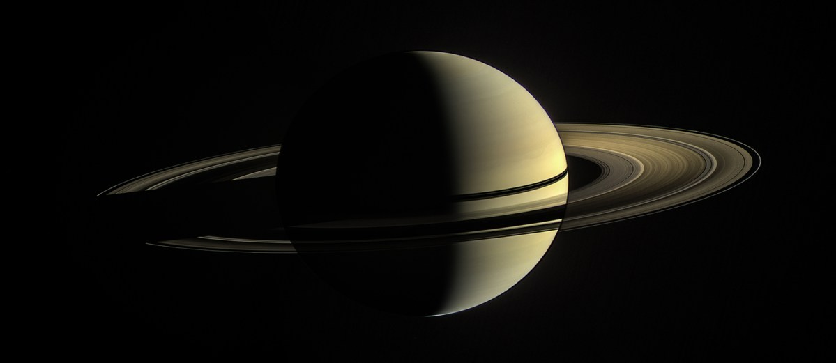 Saturn as seen from space