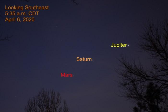 Venus is passed the Pleiades, April 5, 2020