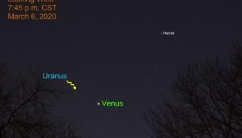 Brilliant Venus in west, March 6, 2020