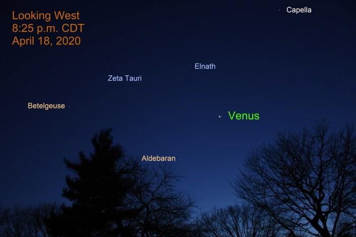 Venus in Taurus, April 18, 2020