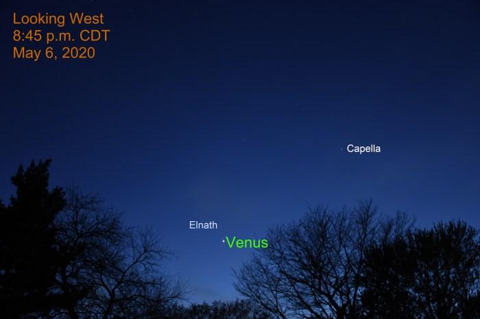 Venus and Elnath, May 6, 2020
