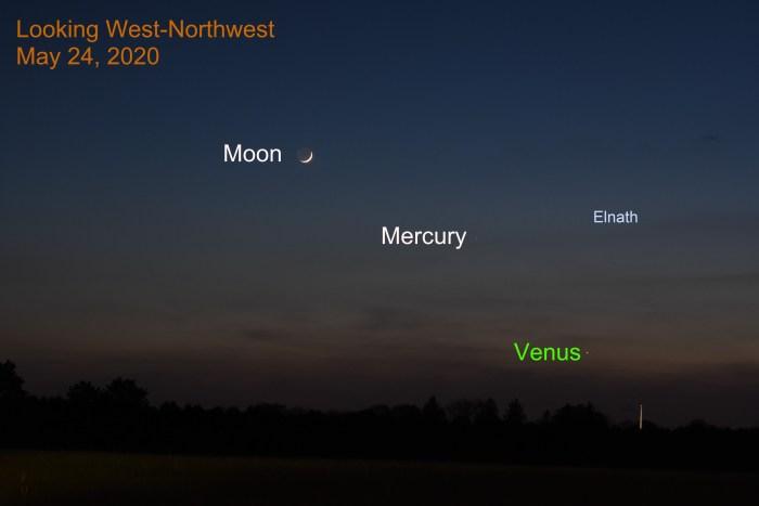 Venus, Moon, and Mercury, May 24, 020