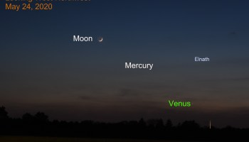 Venus, Moon, and Mercury, May 24, 020