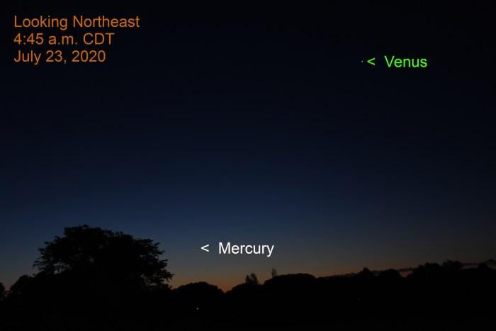 Mercury, Venus, July 23, 2020