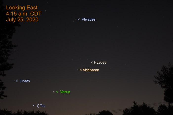Venus in Taurus, July 25, 2020.