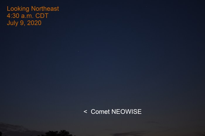 Comet NEOWISE, July 9, 2020
