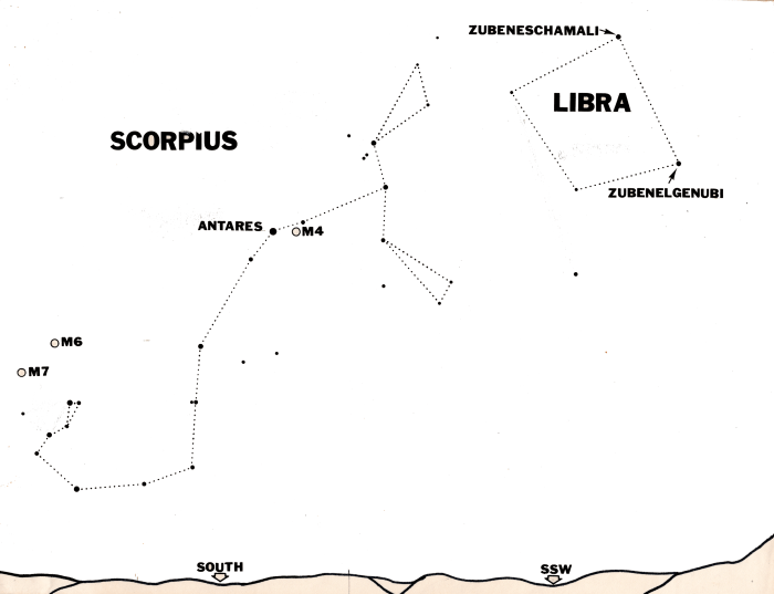 Scorpius in the southern sky